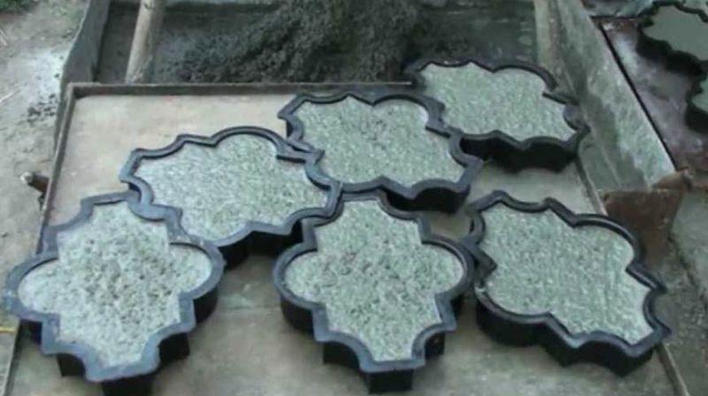 Форма для плитки из силикона