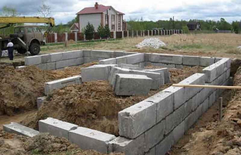 Пеноблоки фундамент