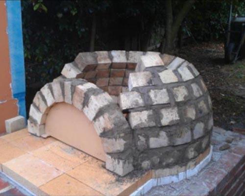 Кладка купола печи