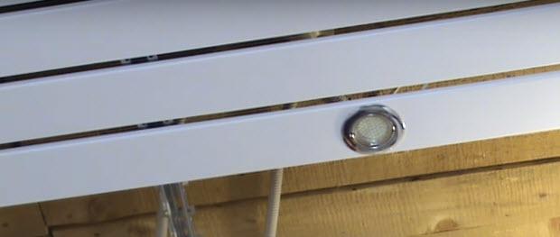 Лампа на рейках