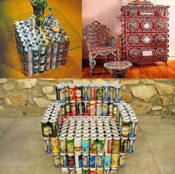 Мебель из банок