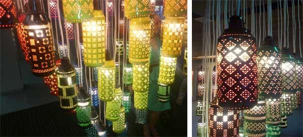Светильники из бросового материала