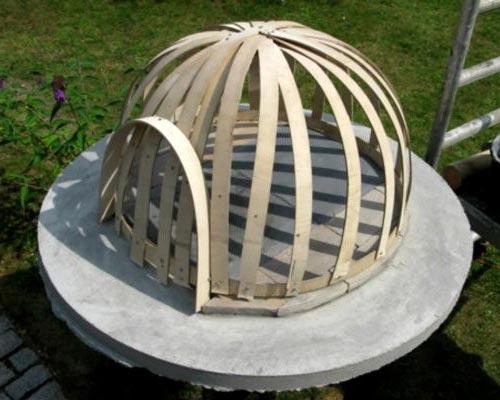 Купол из фанеры для печи
