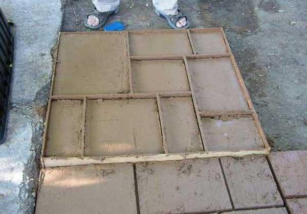 Квадратная форма для плитки