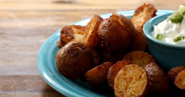 Картофель с сырной корочкой