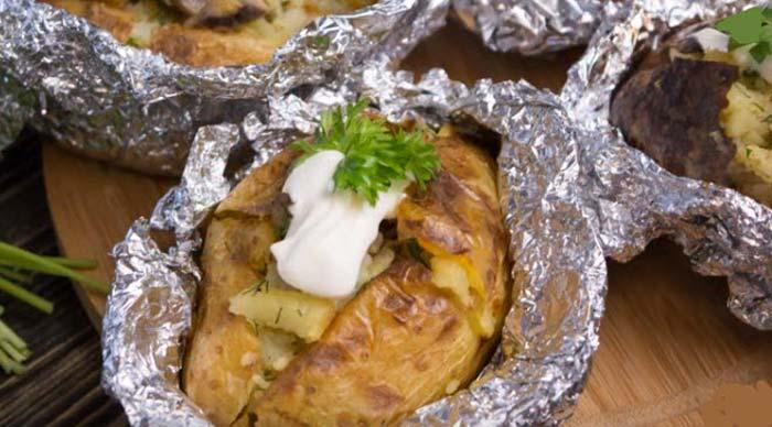 Картошка с грибами сметана