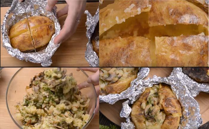 Этапы приготовления картофеля
