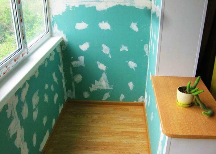 Отделка балкона гипсокартоном под покраску своими руками — пошаговая инструкция